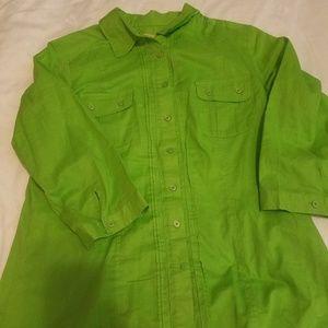 Motto long sleeve blouse
